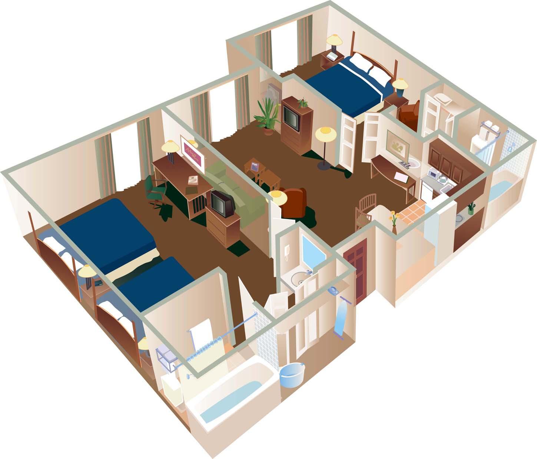 Elara Las Vegas 3 Bedroom Suite Floor Plan Homedesignview Co