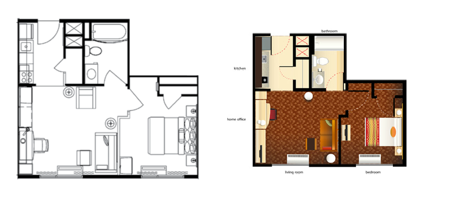 Homewood Suites 2 Bedroom Floor Plan